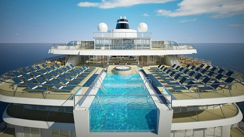 Infinity Pool, artist's rendering, image provided by Viking Cruises