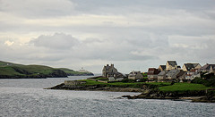 Shetland, Lerwick, Hafeneinfahrt und Bressay Lighthouse