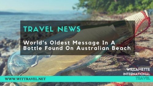 travel news message in bottle